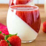 Rezept für ein Erdbeere-Pannacotta