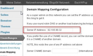 Server IP-Adresse in der Konfiguration eintragen.