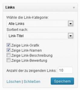 Link-Manager Widget