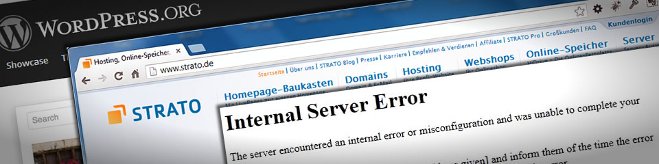 WordPress und der 503 Error bei Strato