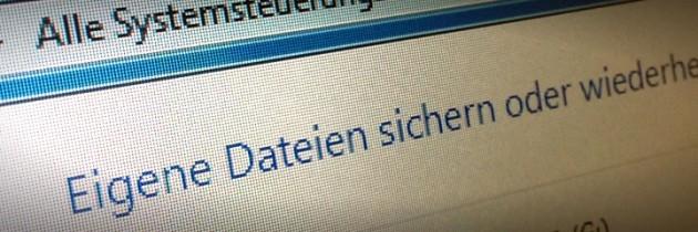 Datensicherung mit Windows 7 einrichten