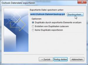 Export-Assistent: schritt 4