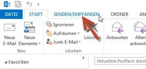 Registerkarte Senden/Empfangen
