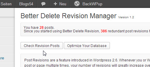 Screenshot -Better Delete Revisonen Plugin