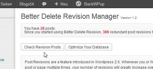 Screenshot -Better Delete Revisonen Plugin