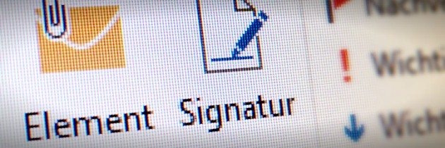 Outlook E-Mail Signatur
