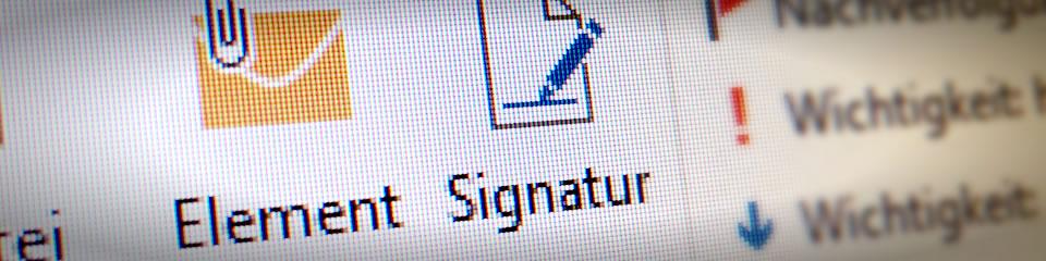 Outlook E-Mail Signatur einrichten [2020]