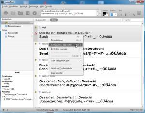 NexusFont Schriften installieren und deinstallieren