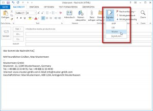 Outlook Signatur einfuegen