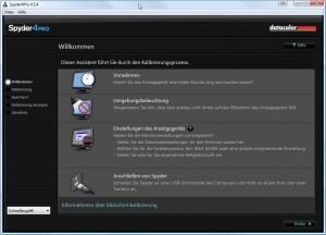Kalibrierungssoftware Spyder4 Checkliste