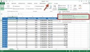 Excel 1. Spalte einfrieren