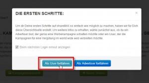 shareMax - User auswählen