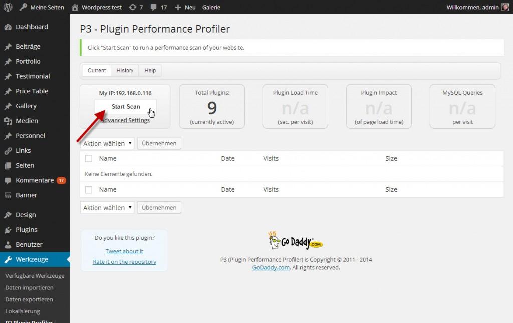 P§ Performance Profiler - Dashboard