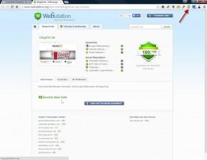 Vertrauen für eine Webseite