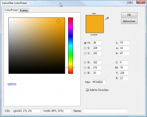 Colorzilla - Colorpicker