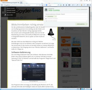 Webcipper Beitrag ausschneiden