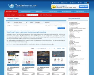 Website von Templatemonster.com