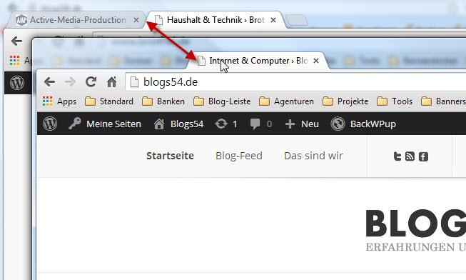 Google chrome funktionen richtig nutzen seite 2 blogs54 for Fenster verschieben