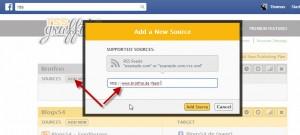 RSS URL eintragen