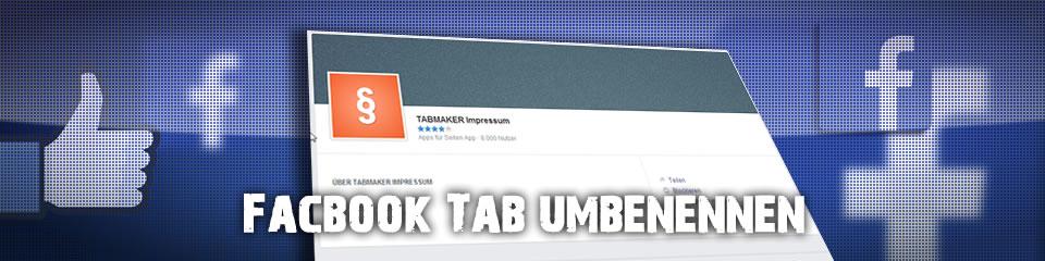 Facebook Fanpage – Tabnamen ändern