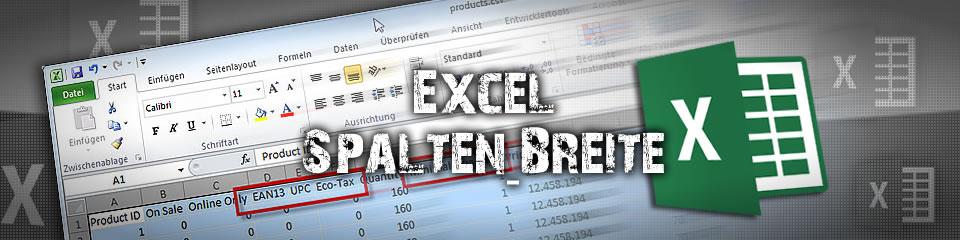 Excel Spaltenbreite automatisch anpassen – mit nur einem Klick