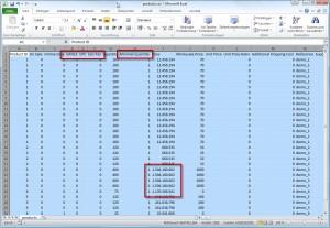 Excel Tabelle mit optimalen Spaltenbreiten
