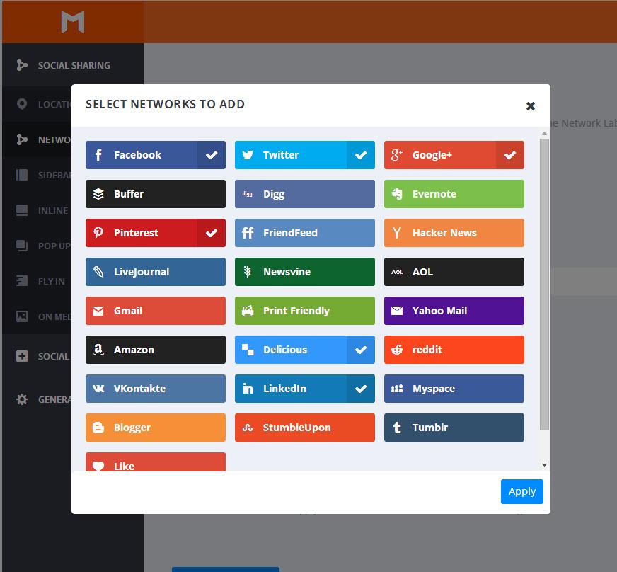 Die verfügbaren Netzwerke