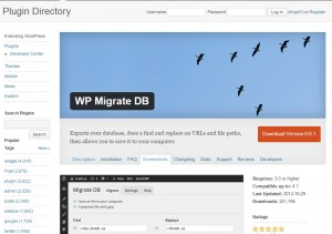 Wordpress Plugin WP Migrate DB