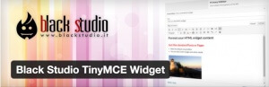 Wordpress Plugin Black Studio TinyMCE Widget