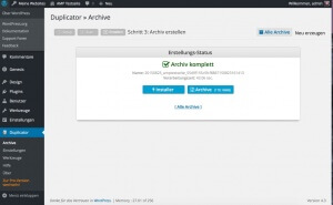 Komplettes WP Archiv + Installer zum Download