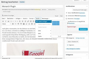Zusätzliche Dropdown-Menüs im WordPress Editor