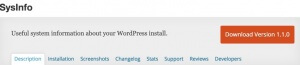 Wordpress Plugin Sysinfo