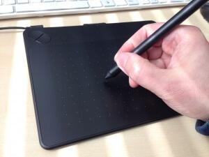 Intuos Grafiktablett Handhaltung des Stift