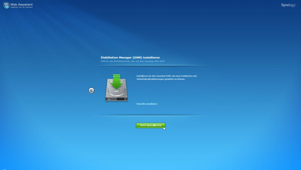 Synology Start DSM Installation