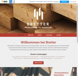 Beispiel einer Firmenwebseite mit vielen Design Elementen