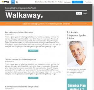 Beispiel einer Blog-Webseite