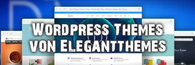 Professionelle WordPress Templates von Elegant Themes