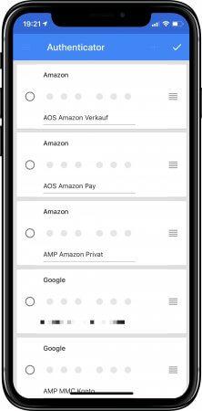 Google Authenticator App -Bezeichnung zufügen
