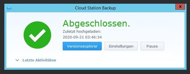 Cloudstation Backup