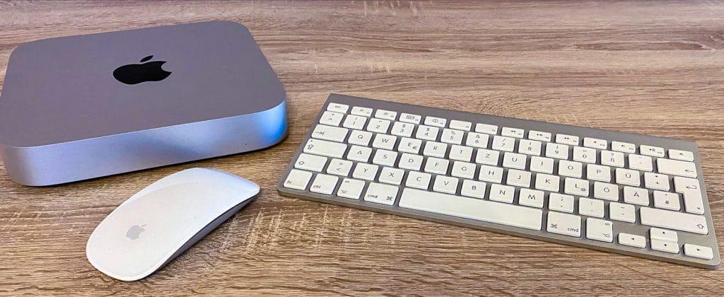 Mac Mini mit Magic Mouse und Tastatur